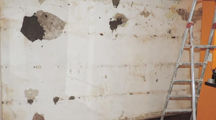 Como trabajar con durlock revestir una pared con humedad - Humedad en pared ...